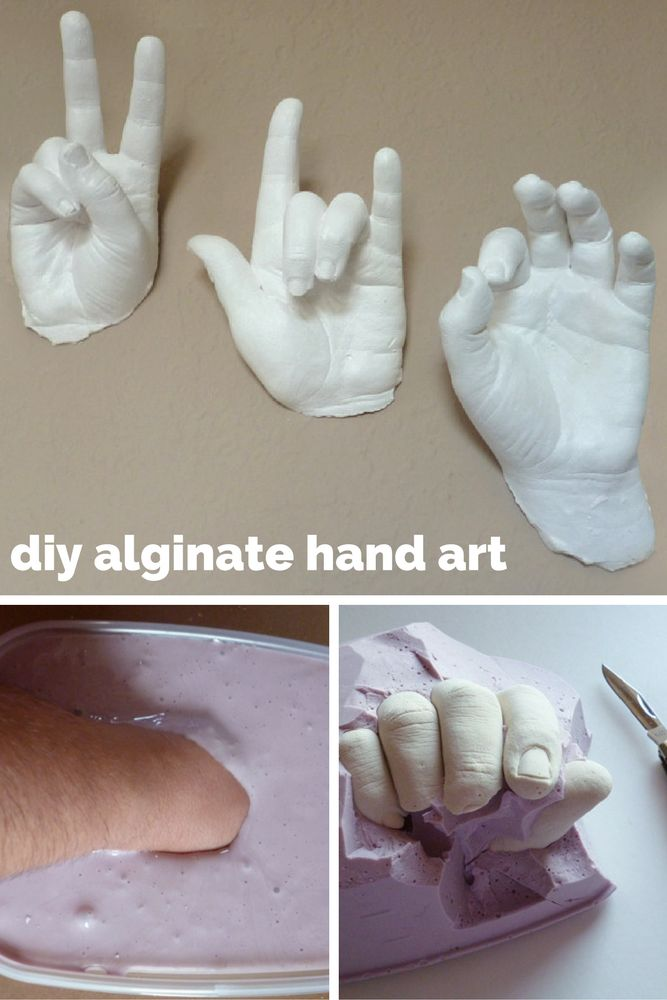 A real hands on craft! Alginate/plaster of paris sculptures.