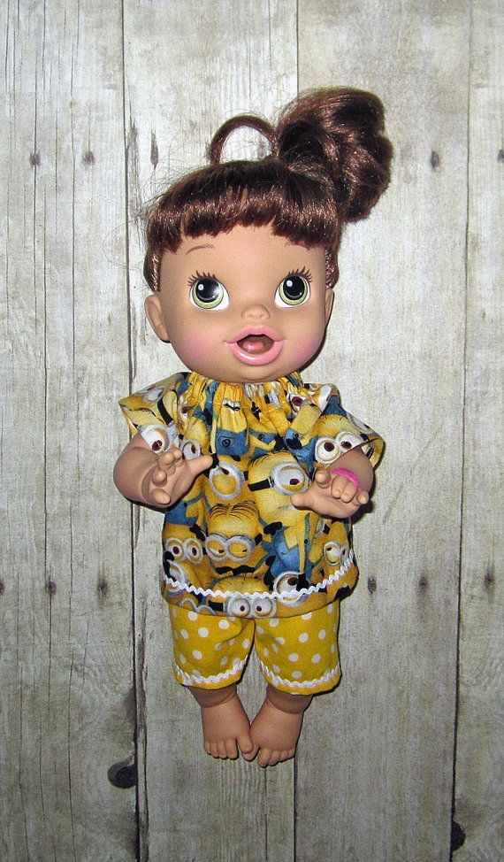 Corolle Tidoo Or Calin Doll Baby Alive Doll Clothes Yellow