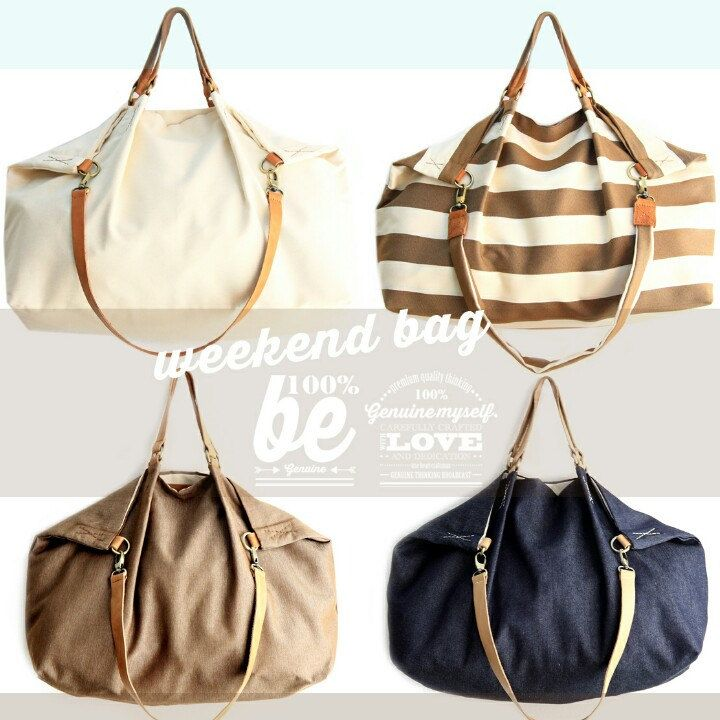 It's time for weekenders! Weekend bag... the perfect size to take with you all you need for a great weekend! Enjoy your week-end!! www.genuinemyself.com