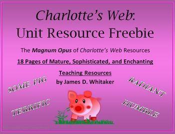 Charlotte's Web Novel Study Resources Graphic Organizers--Common Core!
