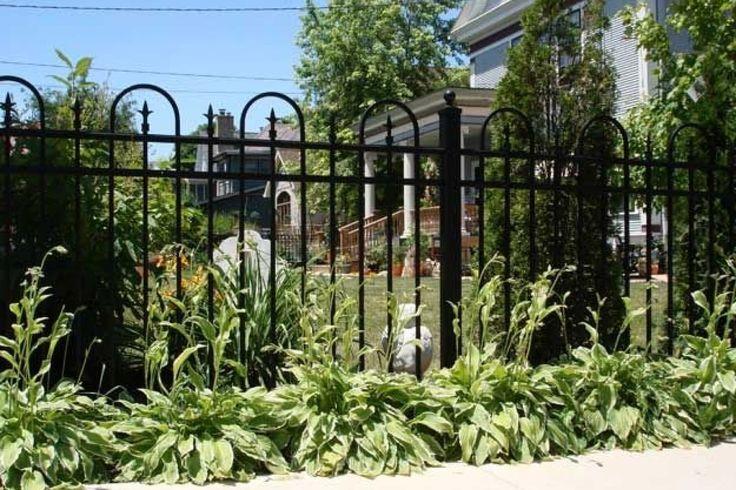 #Black #Aluminum #Garden #fence