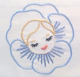 Vintage+Pansy+Girl+-+Hand+Embroidered+Pillow+Case+from+bobetsy.jpg (276×265)
