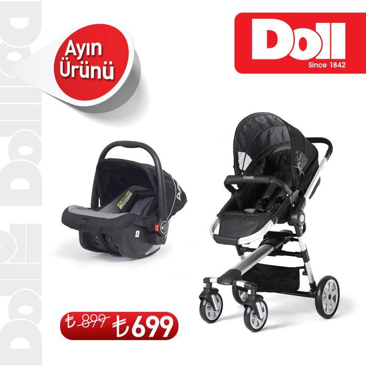 Ayın Ürünü DOLL Travel Sistem Combi'nin çift yönlü kullanılabilen bebek arabası ile bebeğiniz hep gözünüzün önünde. Üstelik 899.00 TL yerine sadece 699.00 TL'ye!