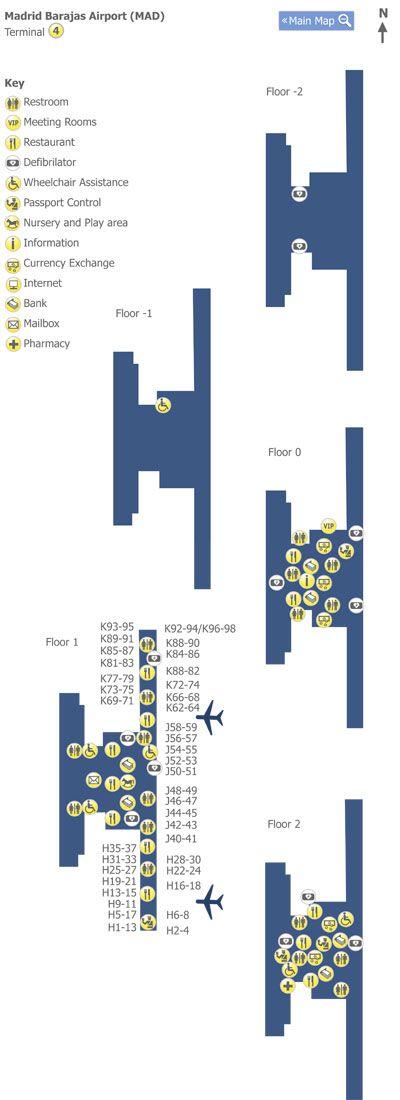 #Madrid Barajas Airport Terminal 4 Map