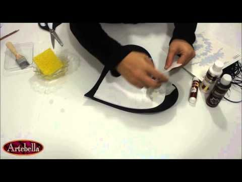 ▶ Artebella Polyester Projeleri Siyah Güller Kalpli Tepsi - YouTube