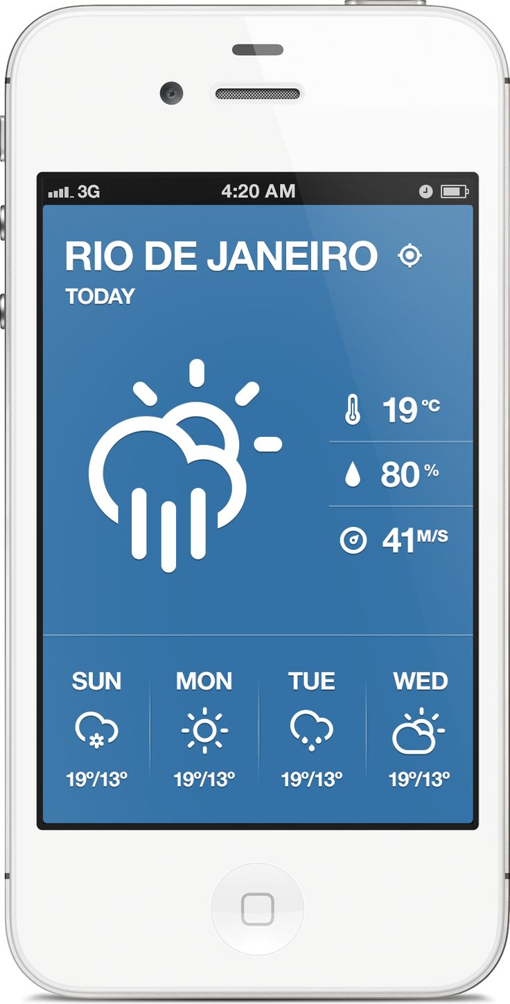 Retina view for another weather app concept