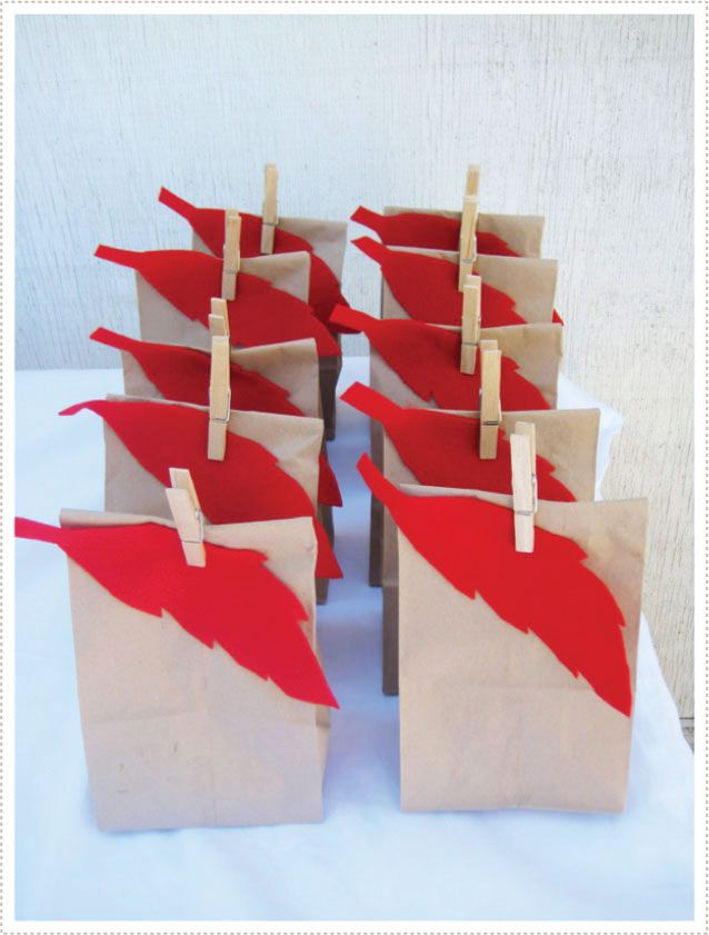 Simple favor bags for Peter Pan Party