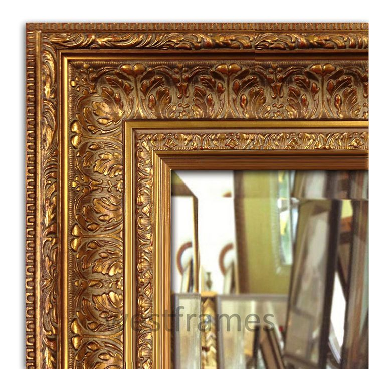 Elegance Wall Framed Mirror, Bathroom Vanity Mirror Antique Gold #Westframes #Traditional