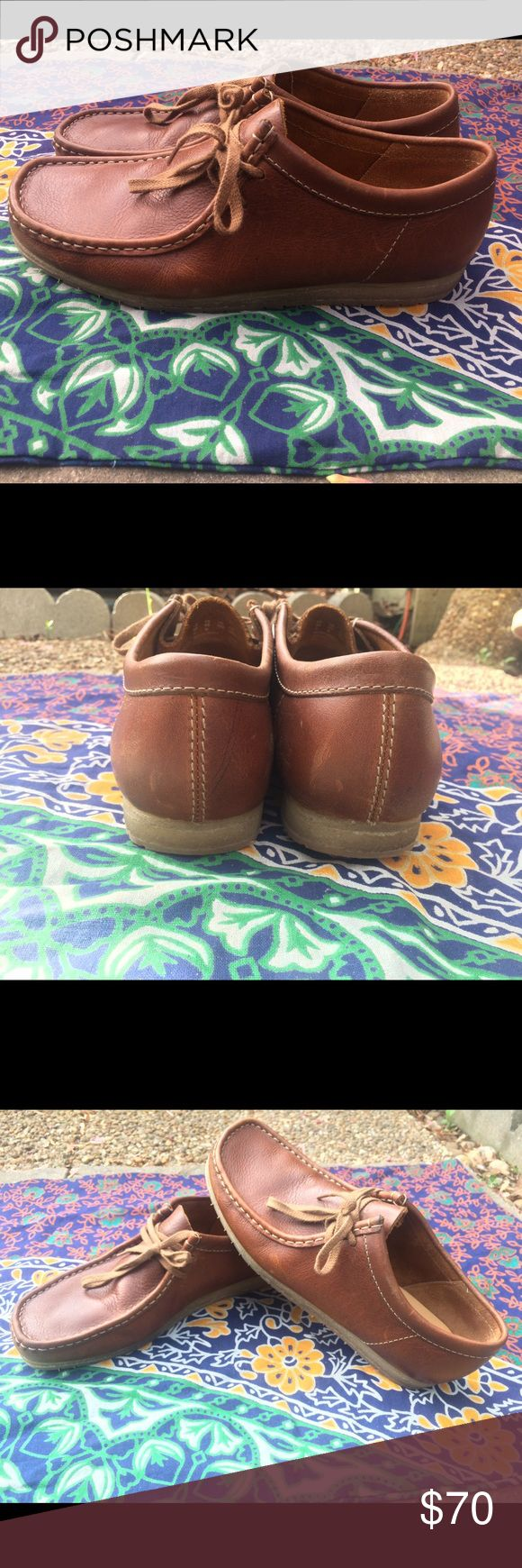 Men's Clarks Wallabee Step Brand new! Never worn! Clarks tan leather Wallabees Step in a size 9 1/2. Clarks Shoes Chukka Boots