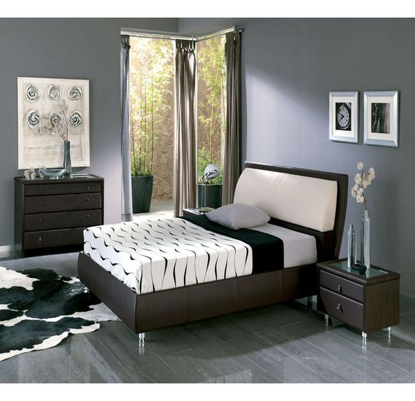 Espresso furniture gray walls with shades of black gray for Colores de habitaciones matrimoniales