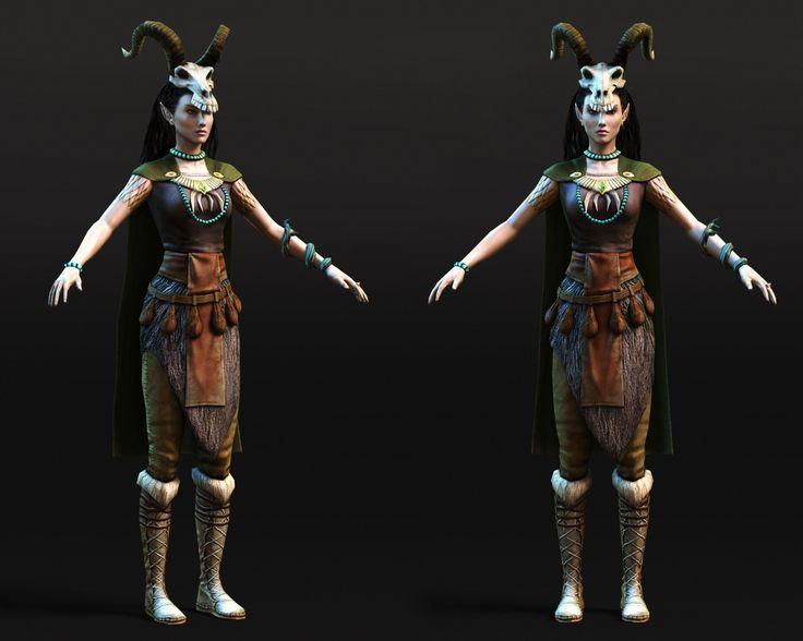 Elf Druid Witcher character