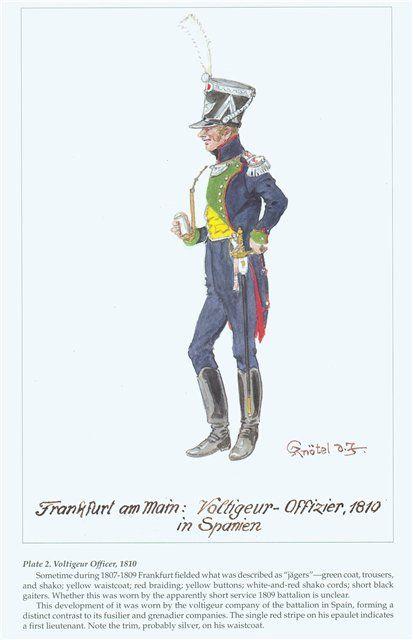Frankfurt am Main voltigeur-officier 1810
