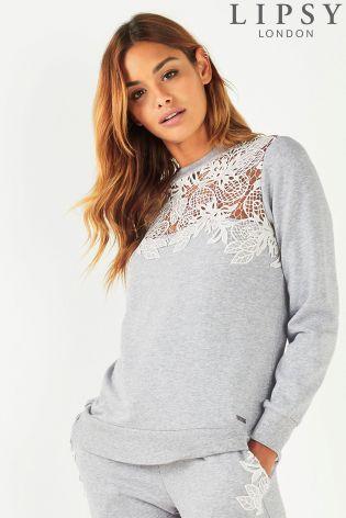 60168939defe Buy Lipsy Lace Sweatshirt from Next Ireland