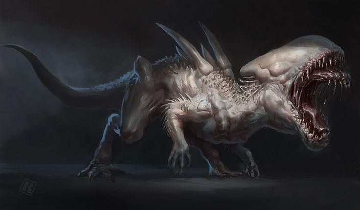 Indominus Neomorph, Raph Lomotan on ArtStation at https://www.artstation.com/artwork/erDbw