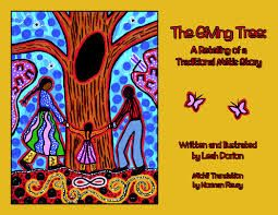 A retelling of the Métis folktale about a tree used as a cache of supplies and a message centre by generations of Métis travellers. Gr.1-6