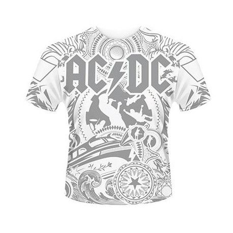 Tricou allover AC/DC: Black Ice
