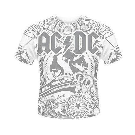 Tricou allover AC/DC: Black Ice