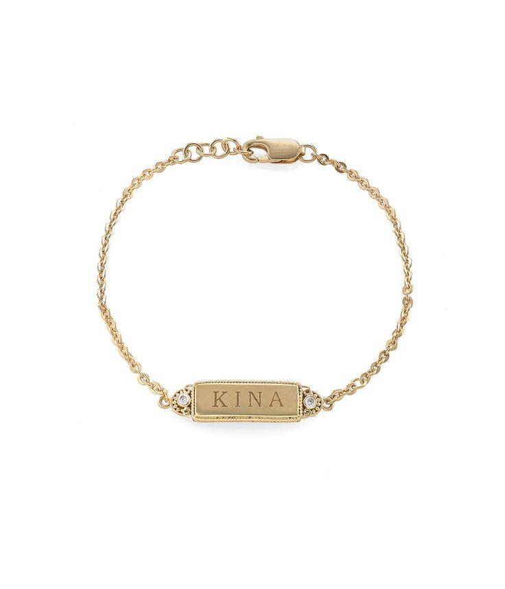 Tulola Engraved Rectangular Station Bracelet (Custom Order) http://www.shoptulola.com/collections/engraved-rectangular-station-bracelet-custom-order.html #SophieParis