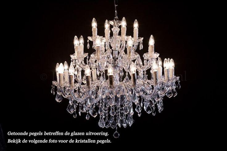 Kristallen Kroonluchter Maria Theresa 28 lichts (chroom)
