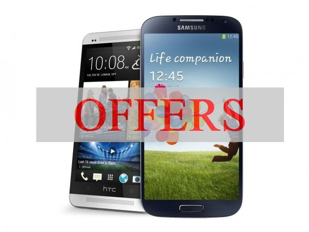 AT, Sprint, Verizon and U.S. Cellular offers for Galaxy S4 and HTC One