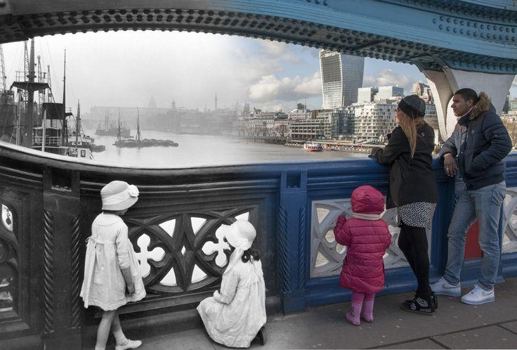 Londres antes y ahora Tower Bridge