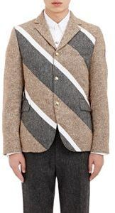 Moncler Gamme Bleu Quilted Three-Button Sportcoat-Colorless