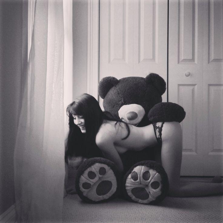 Naughty girl teddy bear my show you discipline ;)
