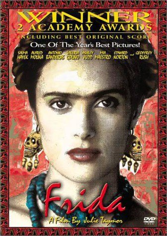Salma Hayak as Frida in the wonderful movie of her life. Such a powerful movie about a true artist! Love Frida
