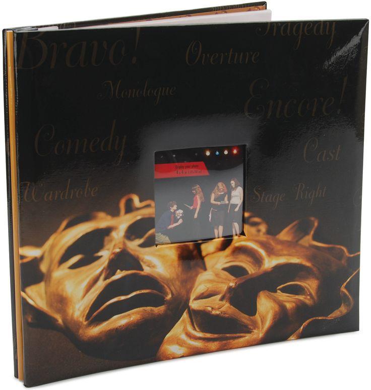 "Sport & Hobby Postbound Album 12""x12"" - Drama Mask"