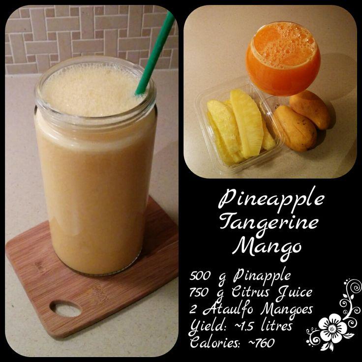 Pineapple, Honey Tangerine, Mango