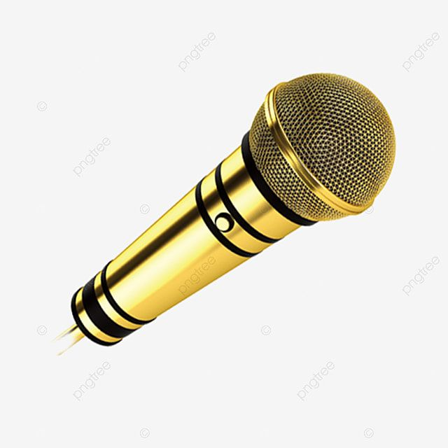 Golden Microphone Decoration Material Gold Bright Stylish Png Transparent Clipart Image And Psd File For Free Download In 2021 Microphone Metal Texture Background Vintage
