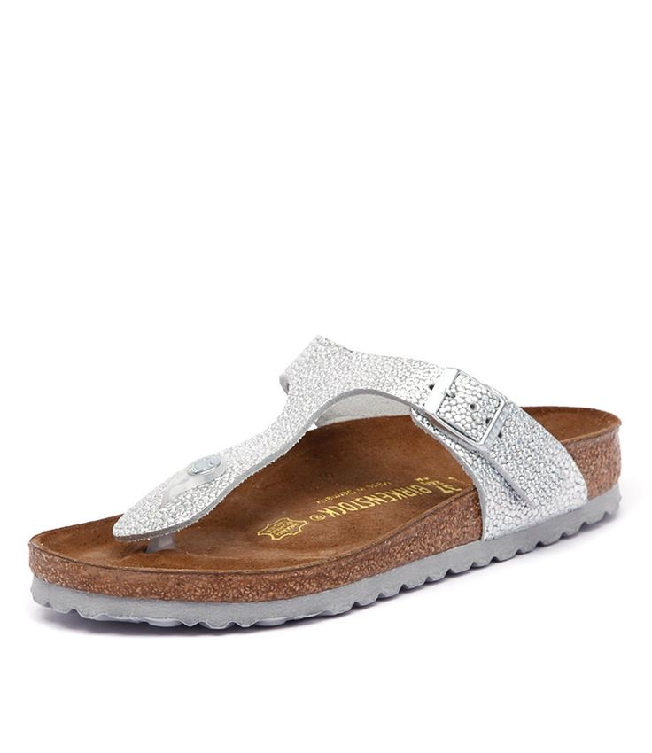 new birkenstock gizeh pebbles metallic silver women shoes. Black Bedroom Furniture Sets. Home Design Ideas