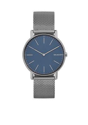 Skagen Men's Men's Titanium Signature Slim Steel-Mesh Watch - Silver - One Size