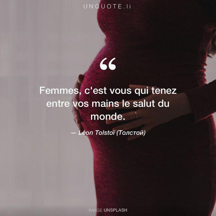 """Léon Tolstoï (Толстой) """"Femmes, c'est vous qui tenez entre vos mains le salut du monde."""" Photo by freestocks.org / Unsplash"""