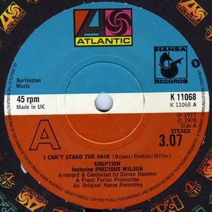 """Eruption Featuring Precious Wilson* - I Can't Stand The Rain: buy 7"""", Single at Discogs"""