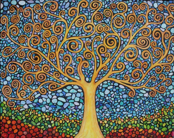 klimt tree of life mosaic style