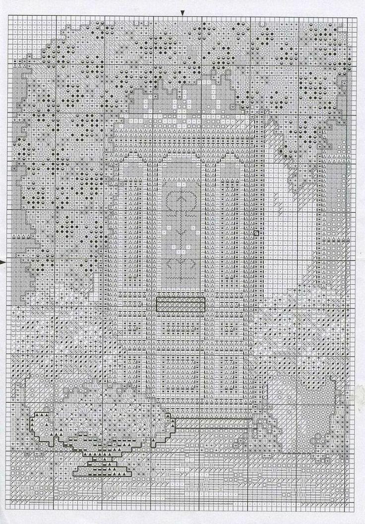Schema punto croce Porta Azzurra 02