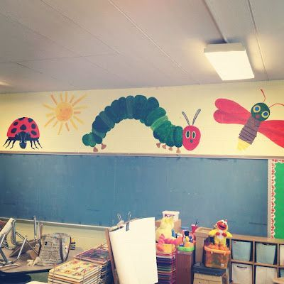 Eric Carle classroom mural - this will go on the windows!!!