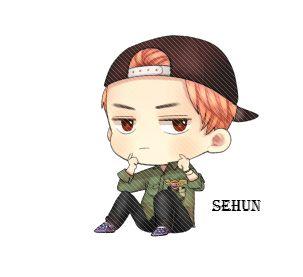 #exo #sehun #cute #art #fanart #chibichan