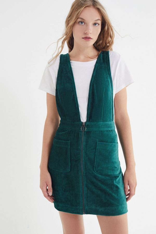 aa4888c8444 Slide View  4  Moon River Plunging Corduroy Pinafore Dress