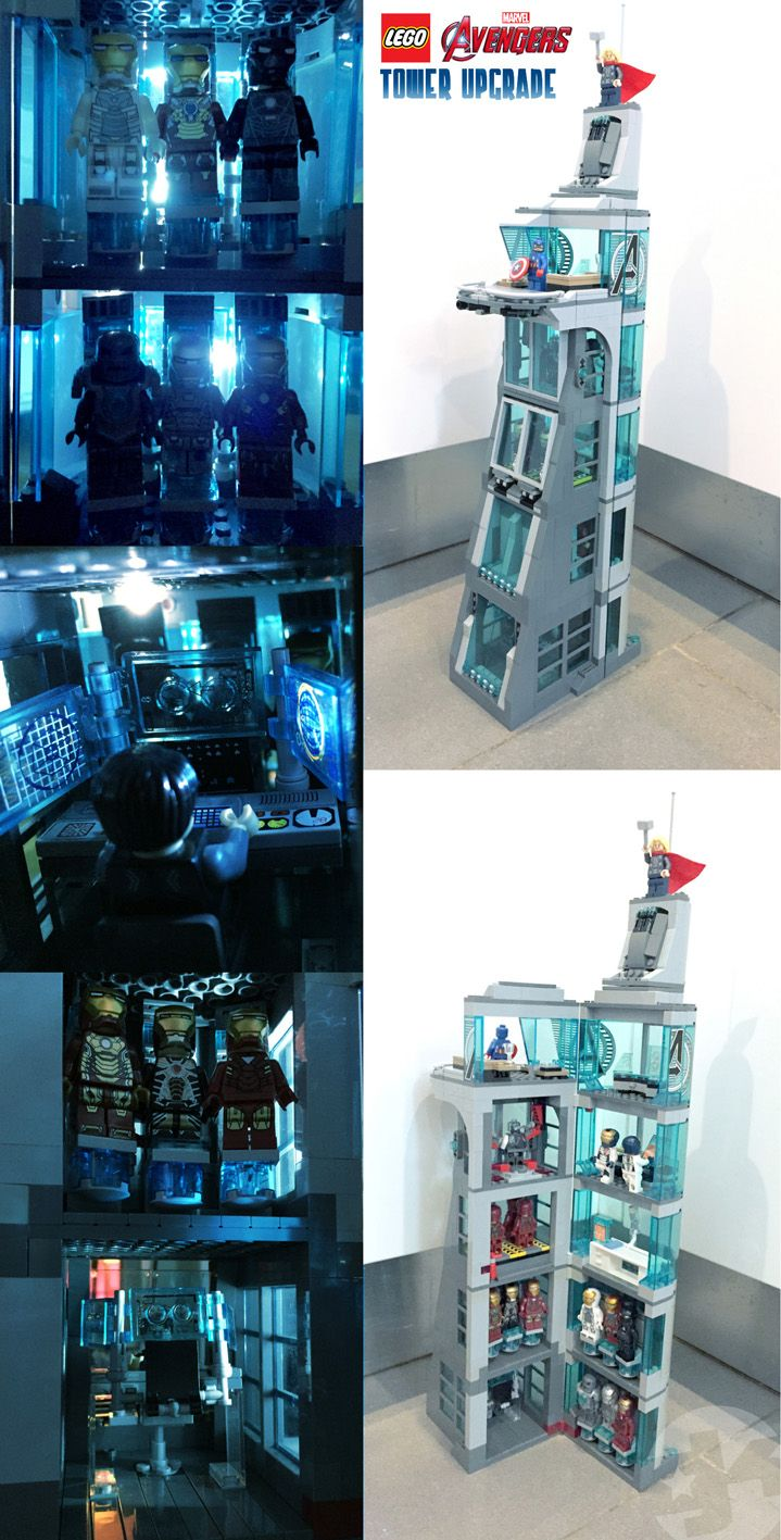 A modest upgrade to the LEGO Avengers Tower... because Tony needed somewhere to keep his toys.