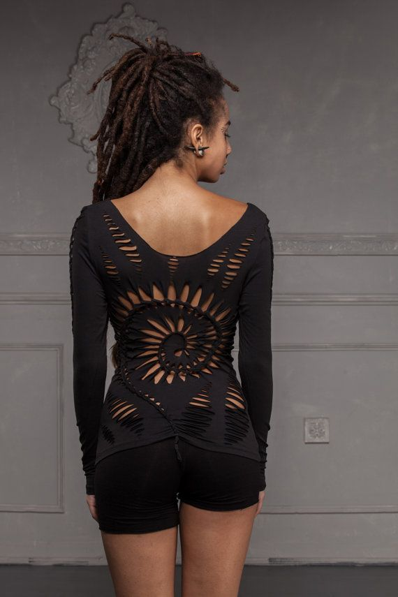 Spiral Braided Top with Feather - Handmade, Tribal, Festival, Goa, Psytrance, pixie, stretch,  burning man