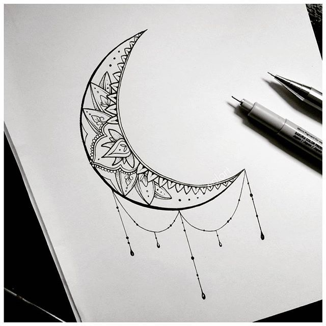 moon tattoo art drawing on Instagram