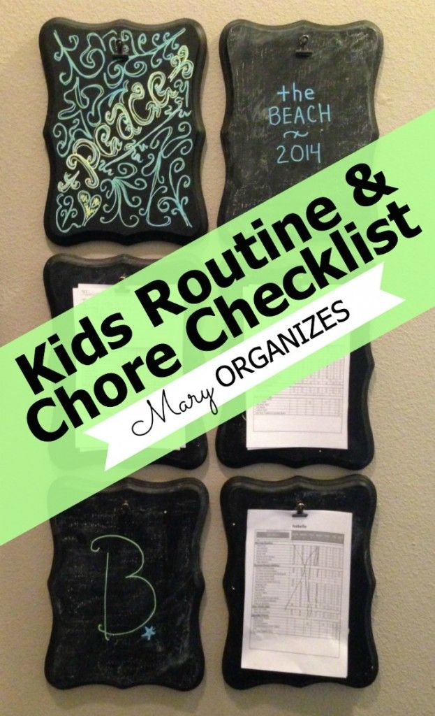 Kids Chores and Routines #Checklists | FREE PRINTABLE