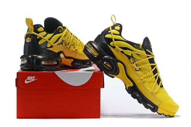 finest selection dcc00 5bb48 Drake Reveals Nike Air Max Plus For Stage TN Frequency Pack Tour Yellow  White-Black Men s Running Shoes Sneakers