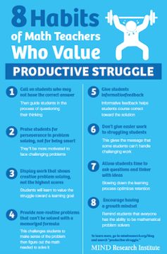8 habits of math teachers who value productive struggle - download and print this poster for your teacher colleagues!
