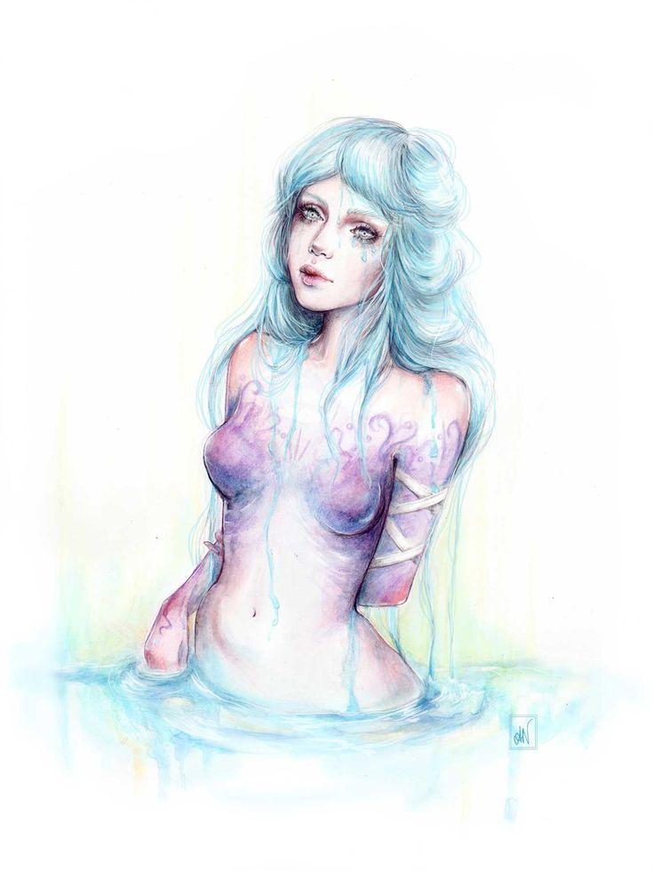 """Elizabeth"" Watercolour illustration fantasy painting. By Alicia Nilsson (IG: alicianilssoncreates)"
