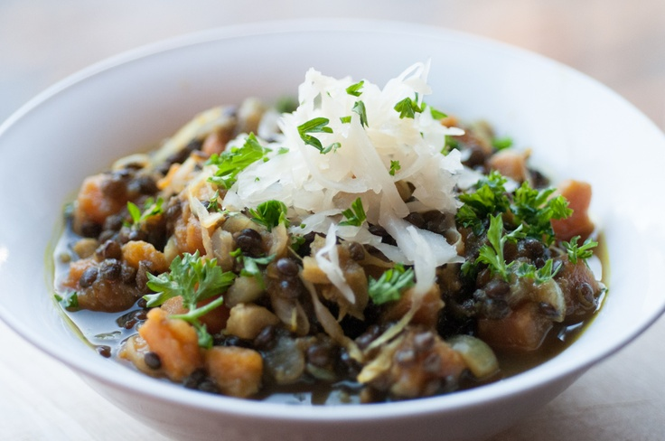 Beluga lentil and sweet potato stew | Photos of food I make :) | Pint ...