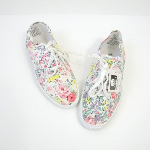 sneakers - love the fabric. Want a collection of these in all different colors and designs :)