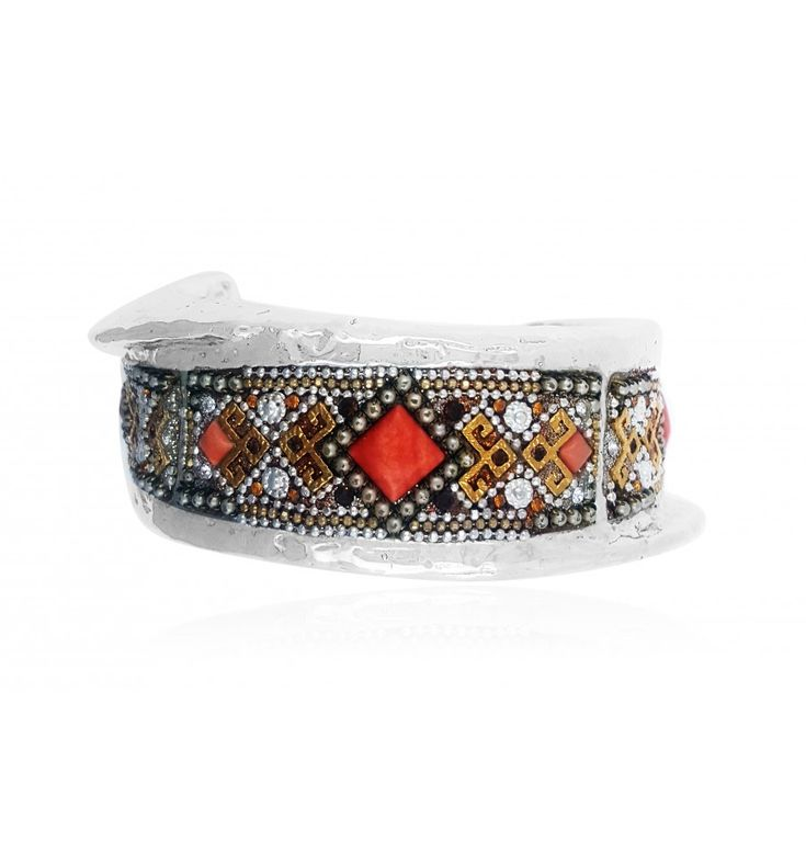 This Bracelet Features Red And Brown Crystals In A Silver Housing. It Is  Affordable And It Appeals To Any Jewelry Enthusiastic Who Wants To Stick To  A ...